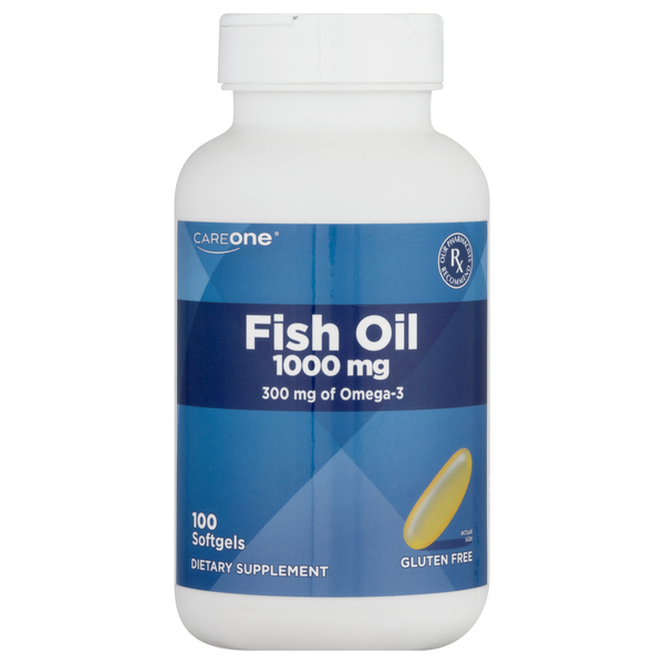 CareOne Fish Oil 1000 mg Softgels Gluten Free