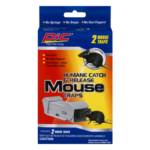 PIC Humane Catch & Release Mouse Traps