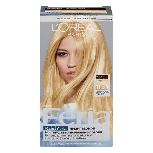 L'Oreal Paris Feria Rebel Chic Hair Color Ultra Pearl Blonde 11.21