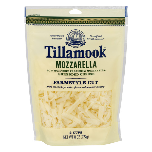 Tillamook Mozzarella Cheese Farmstyle Cut Shredded