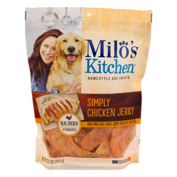 Milo's Kitchen Homestyle Dog Treats Simply Chicken Jerky