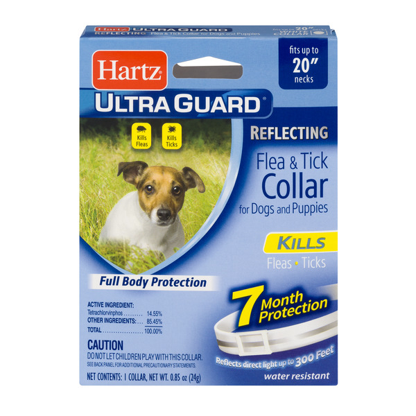 Hartz UltraGuard Reflecting Flea & Tick Collar Dogs or Puppies 20 Inch