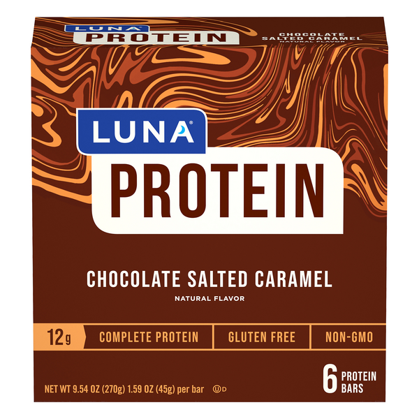 LUNA Protein Bars Chocolate Salted Caramel - 6 ct