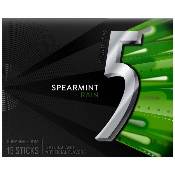 5 Sugar Free Gum Spearmint Rain Single Pack