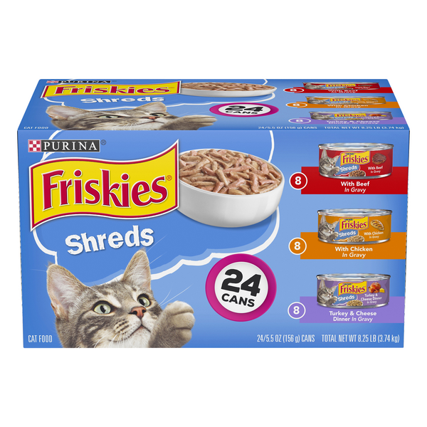 Friskies Shreds Wet Cat Food Variety Pack - 24 ct