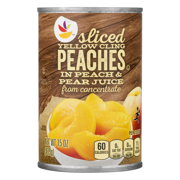 MARTIN'S Peaches Yellow Cling Sliced in Pear Juice