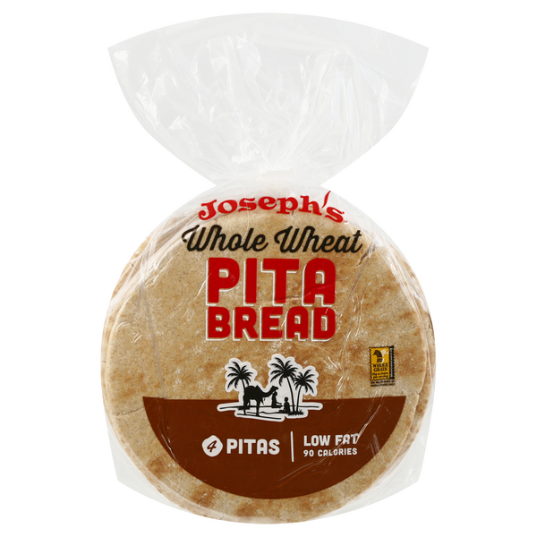 Joseph's Pita Bread Wheat - 4 ct