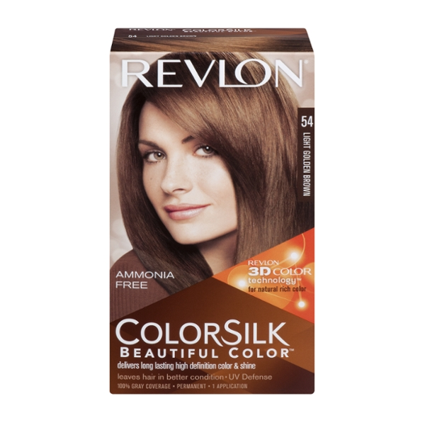 Revlon Colorsilk Hair Color Permanent Light Golden Brown 54