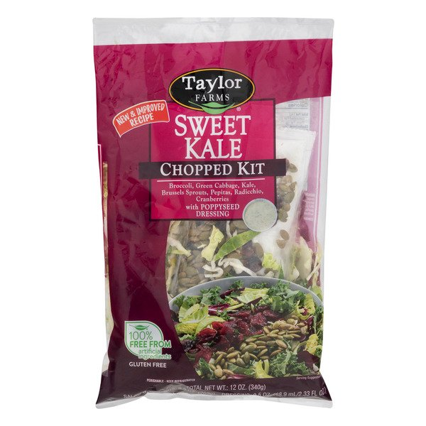 Taylor Farms Sweet Kale Chopped Kit with Poppyseed Dressing