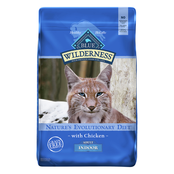 BLUE Wilderness Indoor Adult Dry Cat Food Chicken Grain Free Natural