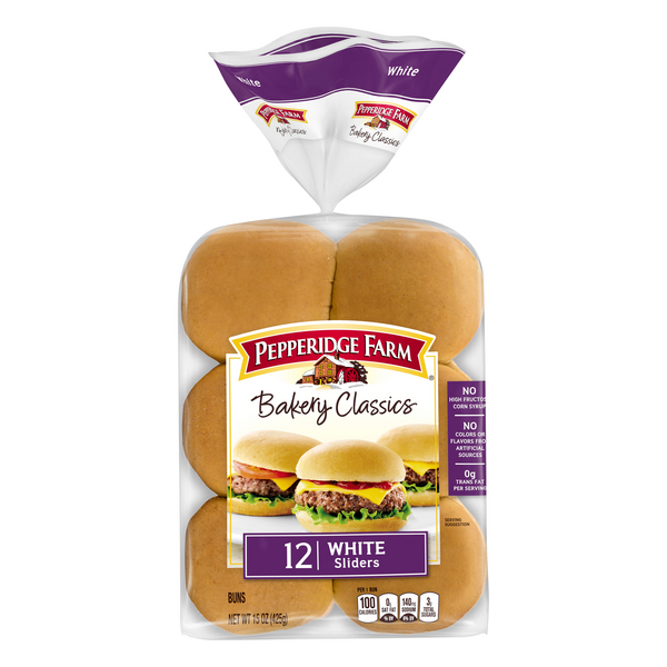 Pepperidge Farm Bakery Classics Sliders Buns White - 12 ct