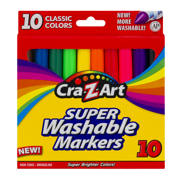 Cra-Z-Art Super Washable Markers Classic Colors