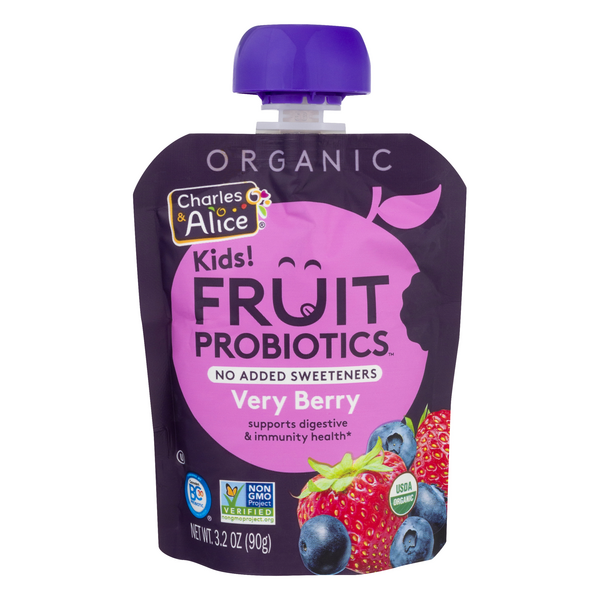 Charles & Alice Kids! Fruit Probiotics Very Berry Organic