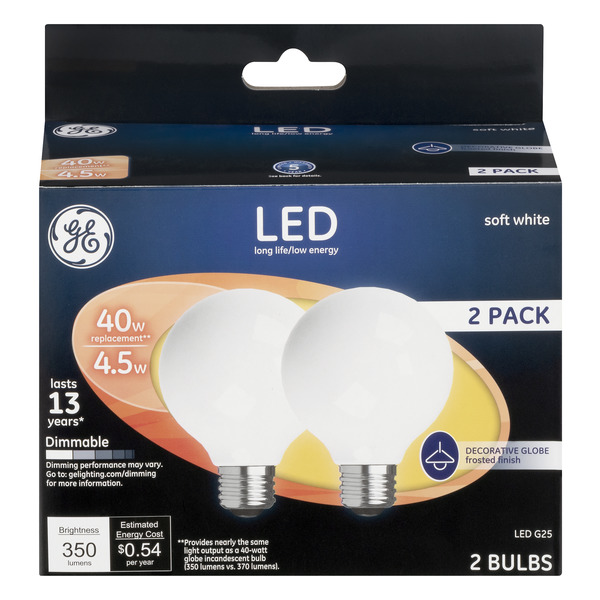 GE LED Light Bulbs Soft White Dimmable 40w Replacement