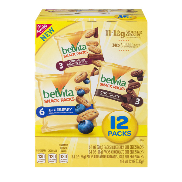 belVita Snack Packs Whole Grain - 12 ct