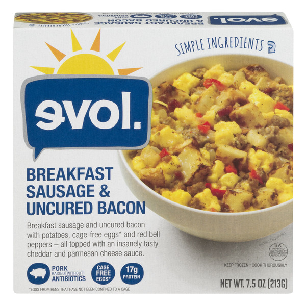 evol. Breakfast Sausage & Uncured Bacon