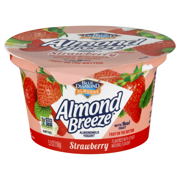 Almond Breeze Almond Milk Fruit On The Bottom Yogurt Strawberry