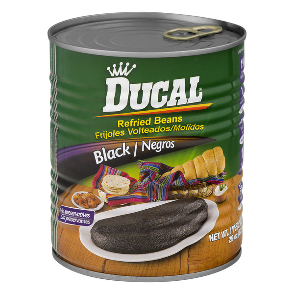 Ducal Refried Beans Black
