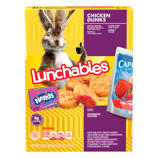 Lunchables Lunch Combinations Chicken Dunks