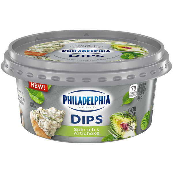 Philadelphia Cream Cheese Dips Spinach & Artichoke