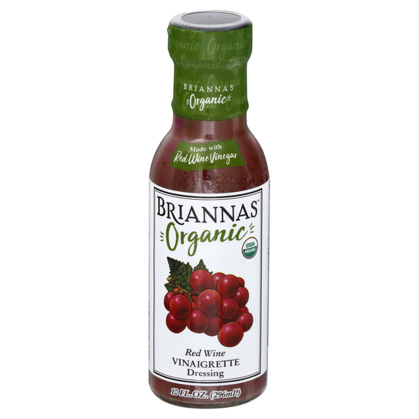 Briannas Vinaigrette Dressing Red Wine Organic
