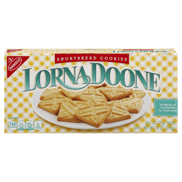 Nabisco Lorna Doone Cookies Shortbread Packs - 10 ct