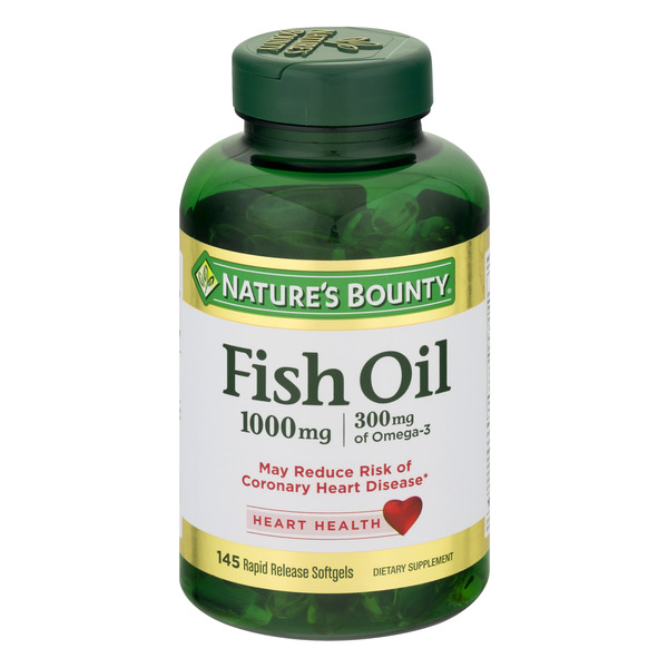 Nature's Bounty Fish Oil 1000 MG Rapid Release Softgels