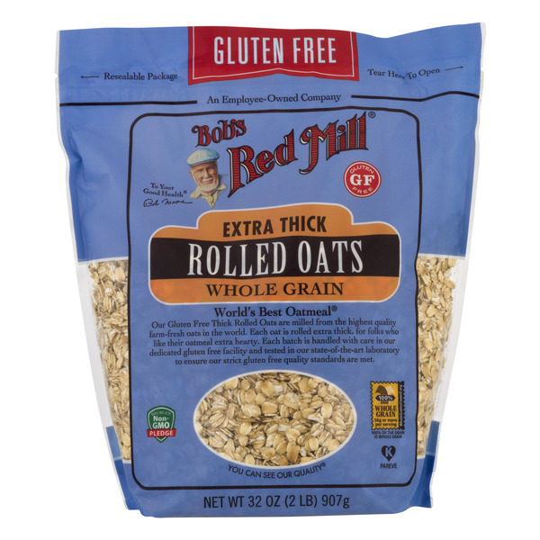 Bob's Red Mill Extra Thick Rolled Oats Whole Grain Gluten Free