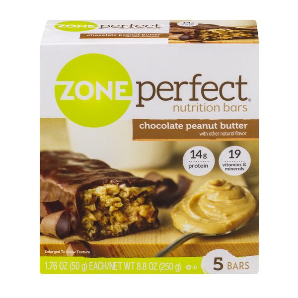 ZonePerfect Nutrition Bars Chocolate Peanut Butter - 5 ct