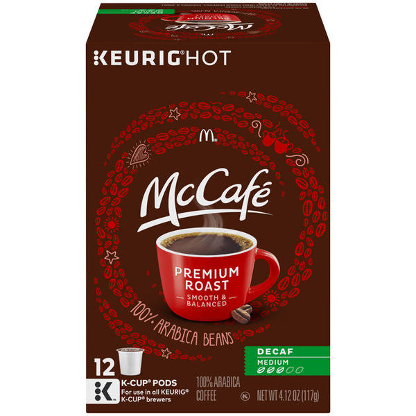 McCafe Premium Roast Medium Decaf Coffee K-Cups