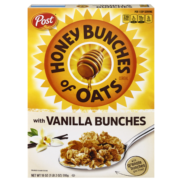 Post Honey Bunches of Oats Cereal with Vanilla Bunches