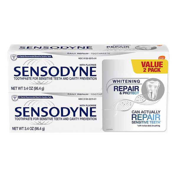 Sensodyne Whitening Repair & Protect Toothpaste - 2 ct