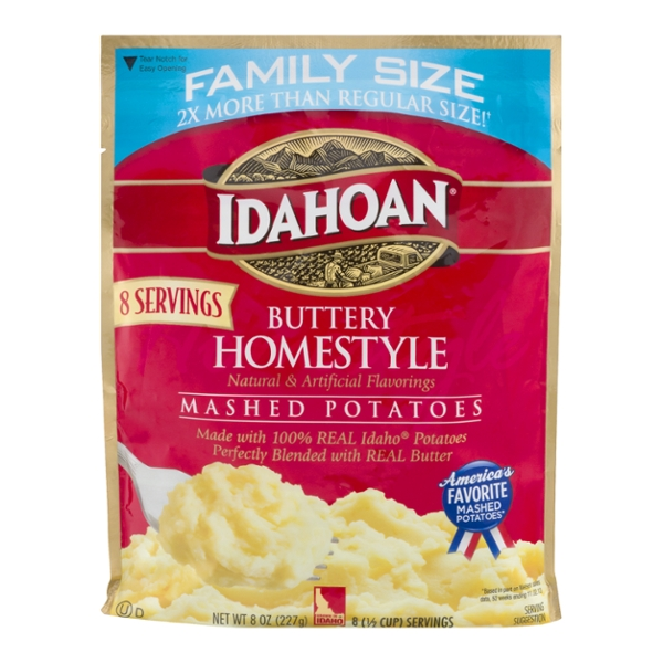 Idahoan Mashed Potatoes Buttery Homestyle