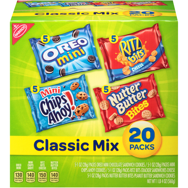 Nabisco Cookies & Crackers Classic Mix Snack Packs Variety Pack