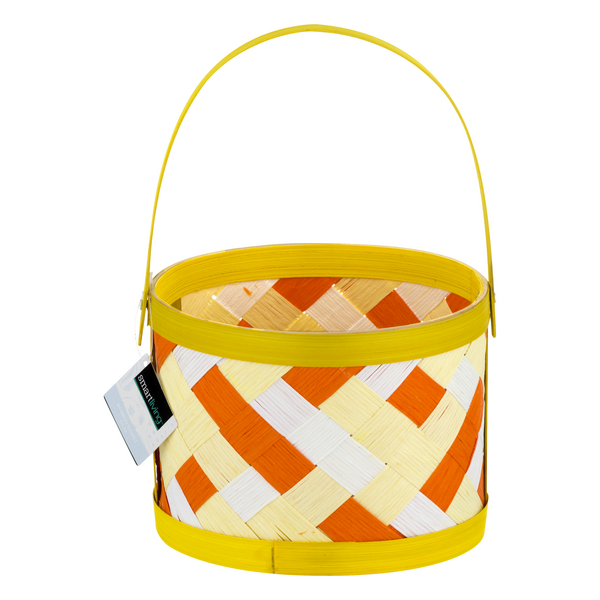 Smart Living Bamboo Basket Easter Yellow Small