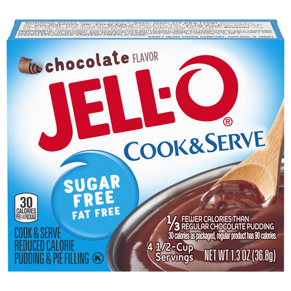 Jell-O Cook & Serve Pudding & Pie Filling Chocolate Fat & Sugar Free