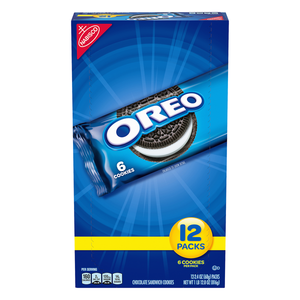 Nabisco Oreo Chocolate Sandwich Cookies Snack Packs - 12 pk