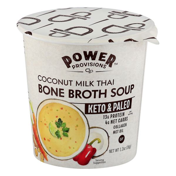 Power Provisions Keto & Paleo Bone Broth Soup Coconut Milk Thai