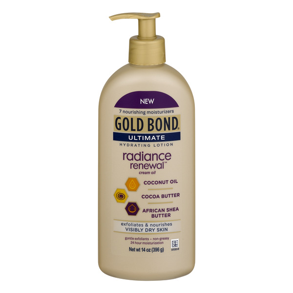 Gold Bond Ultimate Hydrating Lotion Radiance Renewal Cream Oil