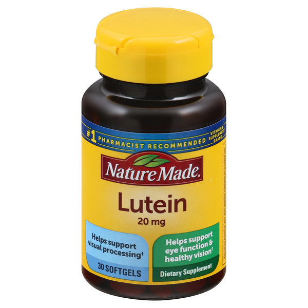 Nature Made Lutein 20 mg Dietary Supplement Softgels