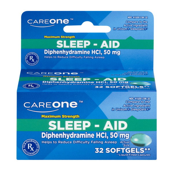 CareOne Sleep Aid Diphenhydramine HCI 50 Mg