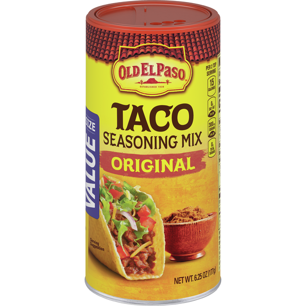 Old El Paso Taco Seasoning Mix Original Value Size