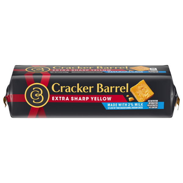 Cracker Barrel Cheddar Cheese Extra Sharp Yellow 2% Reduced Fat Chunk