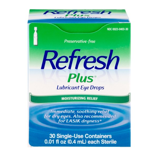 Refresh Plus Lubricant Eye Drops Sensitive Single-Use