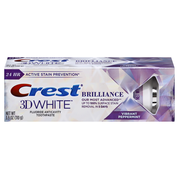 Crest 3D White Brilliance Toothpaste Vibrant Peppermint