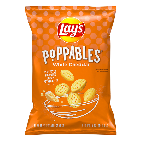 Lay's Poppables Potato Snacks White Cheddar