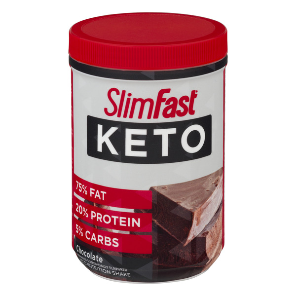 SlimFast Keto Nutrition Shake Powder Chocolate