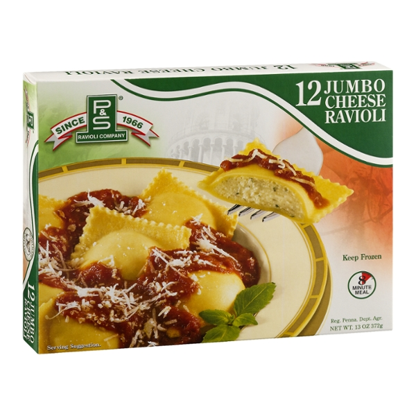 P&S Ravioli Co. Ravioli Cheese Jumbo All Natural Frozen