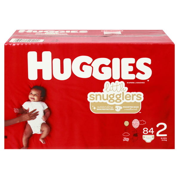 Huggies Little Snugglers Size 2 Diapers 12-18 Ibs