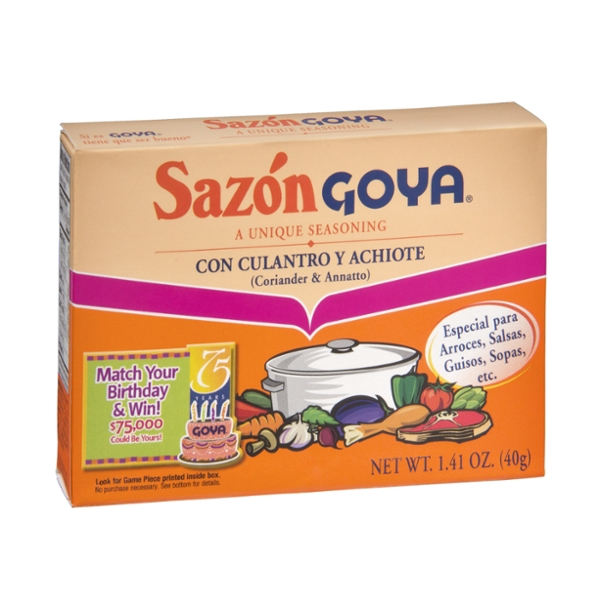 Goya Sazon Coriander & Annotto Seasoning - 8 ct